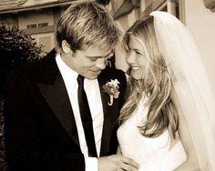 Brad Pitt and Jennifer Aniston wedding. I am still not over this divorce...