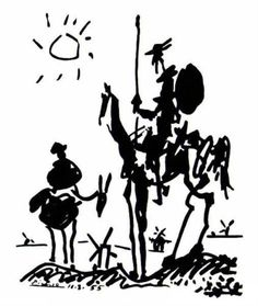 Don Quixote - Pablo Picasso - love this.