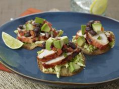 Achiote Grilled Chicken Tostada with California Avocado-Black Bean Relish Relish Recipes, Chef Recipes, Brunch Recipes, Paleo Recipes, Breakfast Recipes, Paleo Breakfast, Recipes Dinner, Restaurant Recipes, Avocado Pesto Pasta
