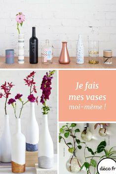 Avec un peu de récup et beaucoup d'idées on peut tous créer de jolis vases en un rien de temps ! C'est décidé, ce week-end on se lance !
