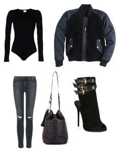 """""""Untitled #8"""" by charcastle ❤ liked on Polyvore featuring Wolford, J Brand, J.Crew, Giuseppe Zanotti and BCBGMAXAZRIA"""