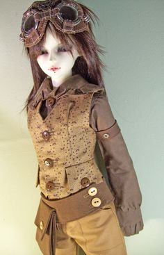 OOAK Airship Pirate set for Volks Super DOLLFIE by wickedstitchery