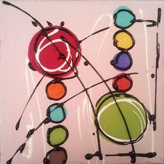 Envie de couleurs 3 / 20 cm x 20 cm ( VENDU)