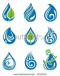 Illustration about Set of abstract water drops. Illustration of abstract, fresh, shiny - 23767426 Water Symbol, Drop Logo, Water Logo, Symbol Tattoos, Tatoos, Deco Originale, Unalome, Drops Design, Water Drops