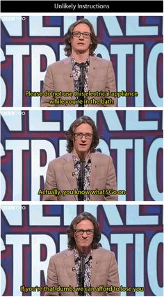 Unlikely instructions | Ed Byrne | Mock the Week