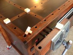 Check out this very cool Workbench! #WoodworkingBench