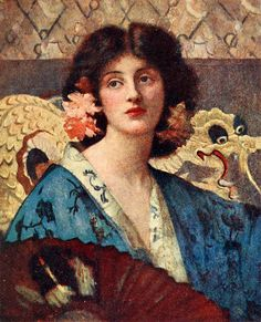 "Henrietta Rae (1859-1928), ""Azaleas""- Japonisme @Sam Pryor"