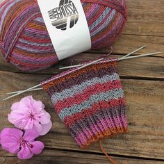 Knit socks in summer? Knitting socks is always fun and relaxing. I knit my socks with a new yarn from LANA GROSSA, which can only be bought in autumn. The glittery sock yarn is called Knitting Patterns Free, Free Knitting, Free Pattern, Crochet Patterns, Knitting Socks, Knitting Needles, Knit Socks, Pull Poncho, Patterned Socks