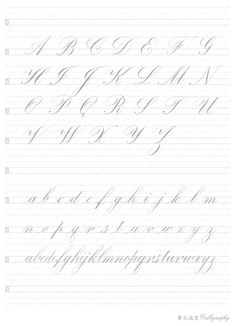 Calligraphy Tattoo Fonts, Calligraphy Worksheet, Calligraphy Paper, Calligraphy Tutorial, Copperplate Calligraphy, Hand Lettering Tutorial, Calligraphy Handwriting, Calligraphy Alphabet, Script Fonts