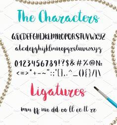 Melony Script, Hand Drawn Brush Font by Qilli on @creativemarket