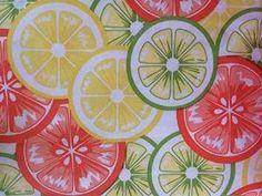 Citrus Peva Vinyl Tablecloth (60 Round)