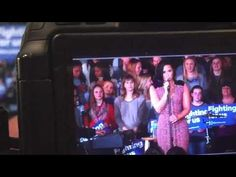 Demi Lovato performing Stone Cold at the Hillary Clinton campaign in Iowa - January 21st - YouTube