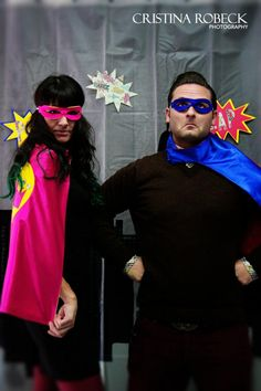 Photo booth with Pip and Bean Capes