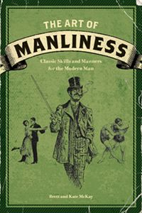 """Thoroughly entertaining and full of great (and often useful) """"How To"""" guides for being more manly by old fashion standards.  In a serious, yet humorous way, the authors teach you many things, including the proper ways to shave with a safety blade, plan a gentleman's bachelor party, kick down a door (without breaking your leg!), change a diaper, start a fire without matches, and more. Great book (and worth putting on the coffee table!). Can't wait to read the follow up, Manvotionals."""