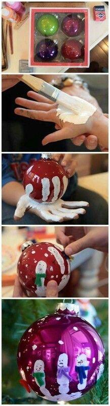 Handprint snowmen babule