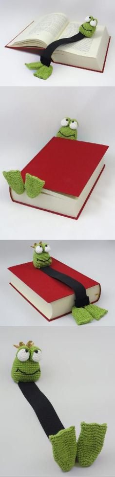 Crochet Frog Bookmark