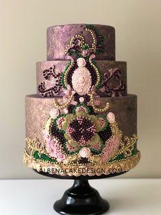 Orange cake and candied fruit - HQ Recipes Indian Wedding Cakes, Amazing Wedding Cakes, Unique Wedding Cakes, Unique Cakes, Wedding Cake Designs, Creative Cakes, Amazing Cakes, Indian Cake, Elegant Cakes