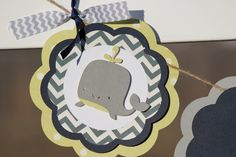 Sea Whale Baby Shower Birthday Chevron Banner by paperpatterns, $28.00