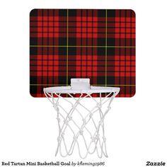 Red Tartan Mini Basketball Goal Mini Basketball Hoops