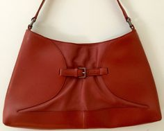 1990s Furla red leather purse, by JanetsVintageFinds on Etsy