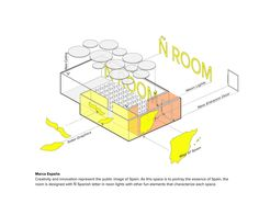 Ñ Room. Interior design and renovation project for the auditorium at Spain Embassy in Seoul, South Korea #idea #diagram #marca #españa Daniel Valle Architects