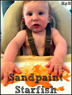 For this project, I used a small amount of craft sand, orange paint, yellow paint, and white cardstock. I mixed a little sand into each pot of paint, and voila: sandpaint!