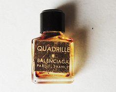 BALENCIAGA QUADRILLE Vintage Empty Mini Perfume Bottle Rare
