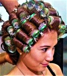 Updo Styles, Hair Styles, Curly Perm, Sleep In Hair Rollers, Wet Set, Perm Rods, Hair Setting, Perfume, Roller Set
