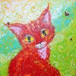 ANNO 1856 Painting by Tatyana Murova | Saatchi Art Original Art, Original Paintings, Red Cat, Animal Fashion, Animal Paintings, Canvas Art, Canvas Size, Buy Art, Saatchi Art