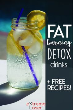 Fat Burning Detox Drinks for Flat Tummy and Losing Weight | These natural drinks will help you belly fat fast and you can get also FREE recipes!