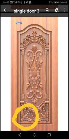 Main Door Design Photos, Indian Main Door Designs, Single Main Door Designs, New Door Design, Door And Window Design, Wooden Main Door Design, Double Door Design, Door Design Interior, Wooden Glass Door