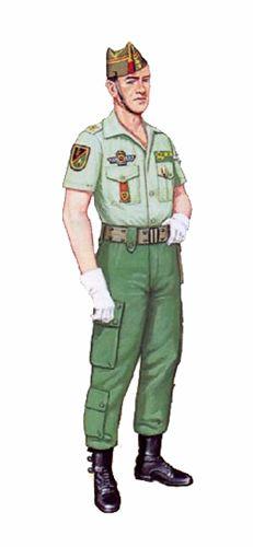Teniente, Unidad de Operaciones Especiales, 1984 Legion Espanola