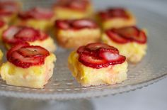 Lemon Champagne Bars with Strawberry Bruleé Topping
