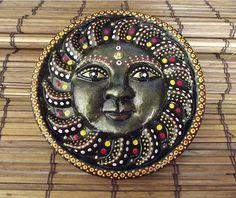 paintedEarth.in | Sun Mask Wallpiece