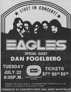 Coliseum, Richfield, Ohio. Saw this billing in Springfield, MA. I could even see how blue Dan's eyes were.