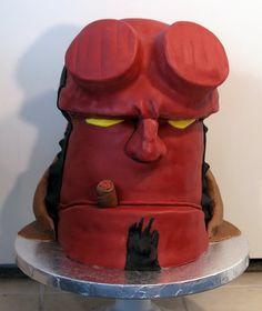 Awesome Hellboy cake.