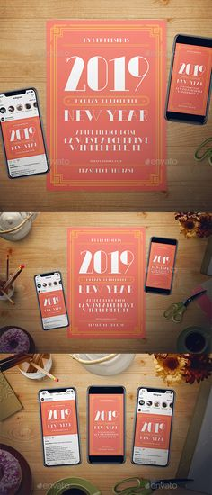 living coral new year flyer template psd ai illustrator fully customizable and editable