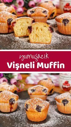 Vişneli Topkek (Muffin) (videolu) Tarifi nasıl yapılır? 633 kişinin defterindeki bu tarifin resimli anlatımı ve deneyenlerin fotoğrafları burada.