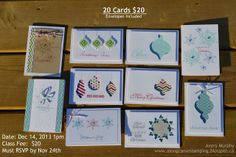 Along Came Stamping: Christmas Note Card's #stampinup