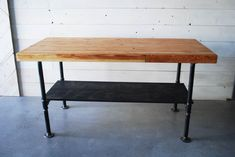 Industrial Butcher Block, by Structure Design & Build.