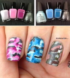 topbox.ca, The Silverinator's Easy DIY Camouflage Manicure