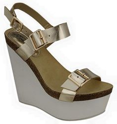 If you like Birkenstock style sandals, you will love these trendy wedges. 2 pairs $60!