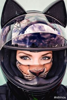 Cute Cat Motorcycle Helmets Keep The Sweetest Biker Bad Asses Safe -  #cat #cute #motorcycle