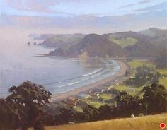"Teal Bay IV by Richard Robinson Oil ~ 16"" x 20"""
