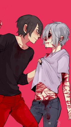 Bloody abused anime boys Guro