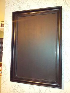 Vintage framed blackboard/menu board for cafe.  By pumkinvintage