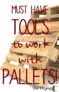 Pallet Furniture Projects Basic tools to make working with pallets easier! - Pallets are awesome. They are cheap, even free, and have an aesthetic that works with any decor from super-modern to shabby chic, to country farmhouse. The idea… Pallet Shed, Pallet Crates, Pallet Boards, Wood Pallets, Pallet Tool, Pallet Shelves, Pallet Work Bench, Pallet Decking, Pallet Storage