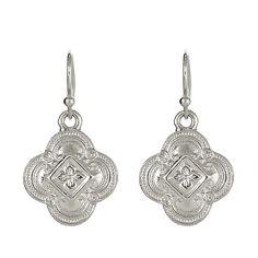 JOLIE Petite Drop Earrings - Silver