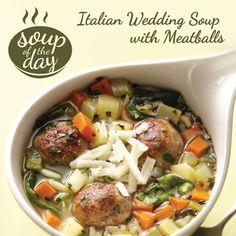 Italian Wedding Soup with Meatballs Recipe from Taste of Home -- shared by Amy McGowen, Jupiter, Florida