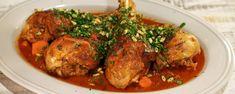 Turkey Leg Osso Buco Recipe | The Chew - ABC.com Can use chicken legs(more).  Add mushrooms and garlic.  Can use black garlic for gremolatta.